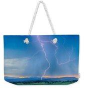 Rocky Mountain Foothills Lightning Strikes 2 Hdr Weekender Tote Bag