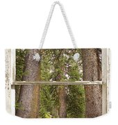 Rocky Mountain Forest Window View Weekender Tote Bag