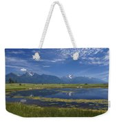 Rocky Mountain Lake Weekender Tote Bag