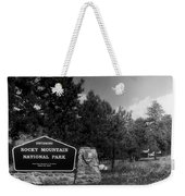 Rocky Mountain National Park Signage Weekender Tote Bag