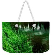 Rocky Mountain Pond Weekender Tote Bag