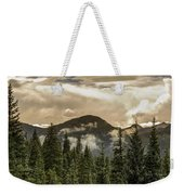 Rocky Mountain Red Weekender Tote Bag