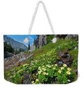 Rocky Mountain Summer Landscape Weekender Tote Bag