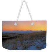Rocky Mountain Sunset Weekender Tote Bag