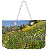 Rocky Mountain Wildflower Landscape Weekender Tote Bag