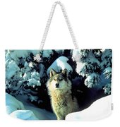 Rocky Mountain Wolf Weekender Tote Bag