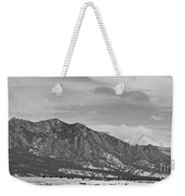 Rocky Mountains Flatirons And Longs Peak Panorama  2 Weekender Tote Bag