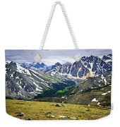 Rocky Mountains In Jasper National Park Weekender Tote Bag by Elena Elisseeva