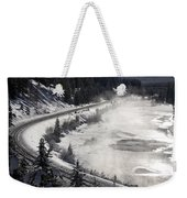 Rocky Mountains In Winter Weekender Tote Bag