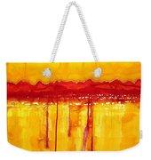 Rocky Mountains Original Painting Weekender Tote Bag