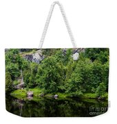 Rocky River Reflection Weekender Tote Bag