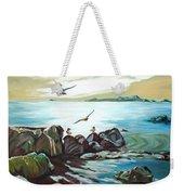 Rocky Seashore And Seagulls Weekender Tote Bag