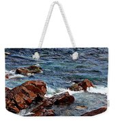 Rocky Shoreline - Coast -  Painterly Effects -  Panorama Weekender Tote Bag