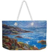 Rocky Shores Of Maine Weekender Tote Bag