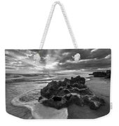 Rocky Surf In Black And White Weekender Tote Bag