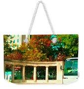 Roddick Gates Mcgill Campus Sherbrook Street Bus Autumn Downtown Montreal City Scenes Carole Spandau Weekender Tote Bag