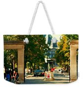 Roddick Gates Painting Mcgill University Art Students Stroll The Grand Montreal Campus C Spandau Weekender Tote Bag