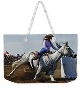 Rodeo Barrel Racer Weekender Tote Bag