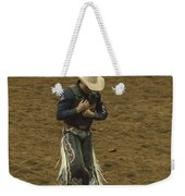 Rodeo Cowboy Dusting Off Weekender Tote Bag