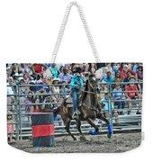 Rodeo Cowgirl Weekender Tote Bag by Gary Keesler