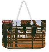 Rodeo Fence Sitters- Warm Toned Weekender Tote Bag