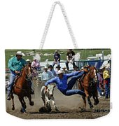 Rodeo Steer Wrestling Weekender Tote Bag