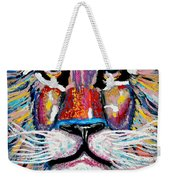 Rodney Abstract Lion Weekender Tote Bag