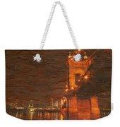 Roebling Bridge Stone N Wood Weekender Tote Bag
