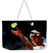 Roger Federer Tennis 1 Weekender Tote Bag by Lanjee Chee