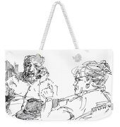 Roger With A Lady Weekender Tote Bag