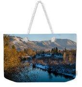 Rogue River Winter Weekender Tote Bag