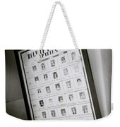 Roll Of Honour Weekender Tote Bag