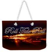 Roll Tide Roll W Red Border - Alabama Weekender Tote Bag