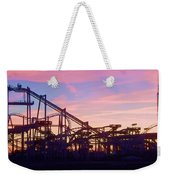 Roller Coaster At The  Nj Shore Weekender Tote Bag