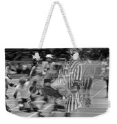 Women's Roller Derby Motion Blur Weekender Tote Bag