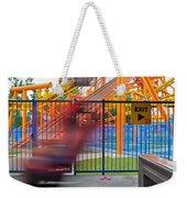 Rollercoasters At Amusement Park Weekender Tote Bag
