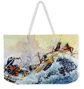 Rollin' Down The River Weekender Tote Bag by Hanne Lore Koehler