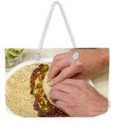 Rolling A Vegetarian Wrap Weekender Tote Bag