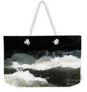 Rolling White Water Weekender Tote Bag