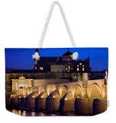 Roman Bridge And Mezquita In Cordoba At Dawn Weekender Tote Bag