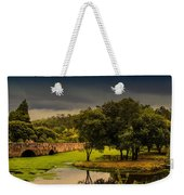 Roman Bridge By The Lake Weekender Tote Bag