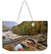 Roman Bridge In Autumn Weekender Tote Bag