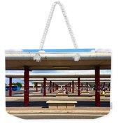 Roman Bus Stop Weekender Tote Bag