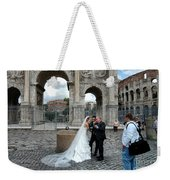 Roman Colosseum Bride And Groom Weekender Tote Bag