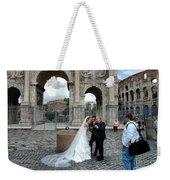 Roman Colosseum Bride And Groom Weekender Tote Bag