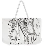 Roman Infantry Soldiers, After Figures On Trajans Column.  From The Imperial Bible Dictionary Weekender Tote Bag