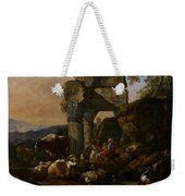 Roman Landscape With Cattle And Shepherds Weekender Tote Bag