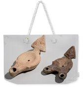 Roman Terracotta Oil Lamps Weekender Tote Bag by Ilan Amihai