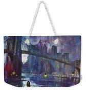Romance By East River Nyc Weekender Tote Bag