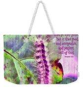 Romans 12 2 Weekender Tote Bag by Michelle Greene Wheeler